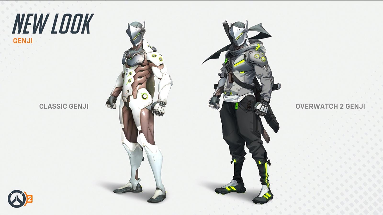 Evolution de Genji d'Overwatch à Overwatch 2