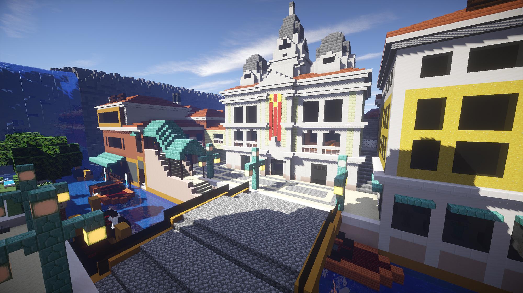 Rialto reproduit dans Minecraft par Halvencyon