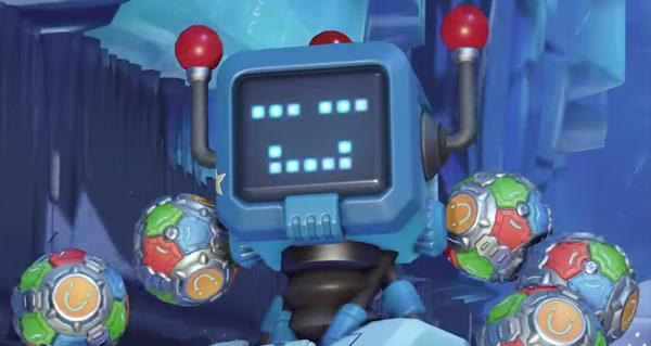 feerie hivernale 2021: apercu du skin toybot pour zenyatta