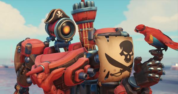 overwatch league : le skin legendaire bateau pirate pour bastion